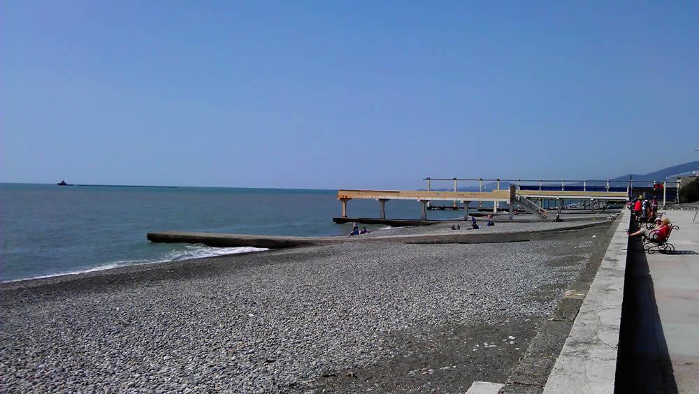 пляж пансионата южный адлер