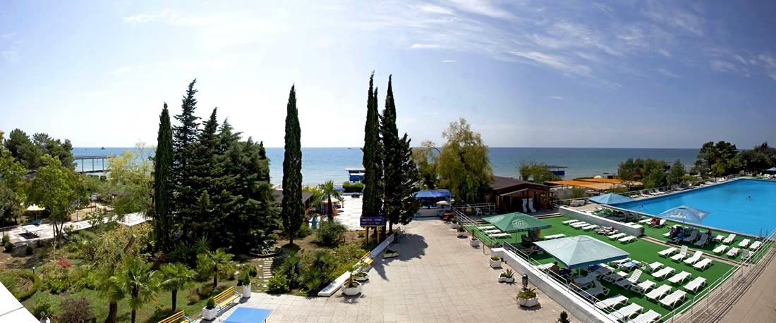Пляж у пансионата эдем фото